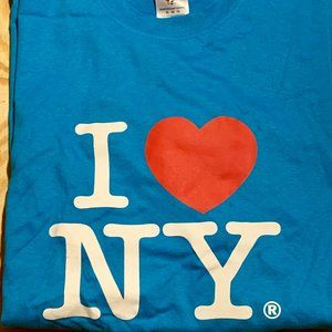 I ❤️ NY Blue T-shirt - Adult XL - NWOT